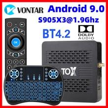 2020 TOX1 Amlogic S905X3 Смарт ТВ коробка Android 9,0 ТВ коробка 4 Гб Оперативная память 32G Встроенная память двухъядерный процессор Wi-Fi 1000 м BT4.2 4K Декодер кан...