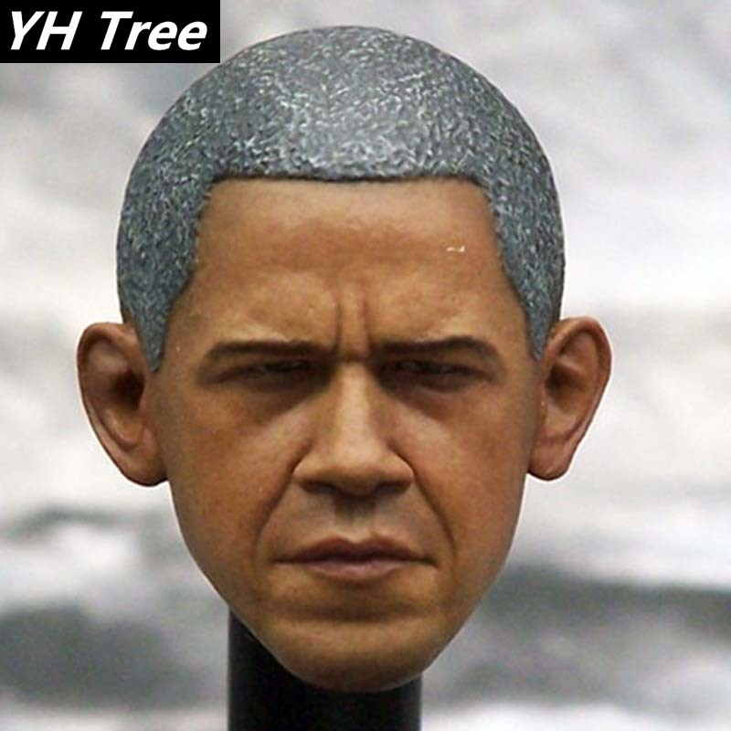 <font><b>1/6</b></font> Scale Handmade Head Sculpt US Obama President Head Carving Sculpt Model Fit 12 Inch <font><b>Body</b></font> <font><b>Action</b></font> <font><b>Figure</b></font> Hot Doll Toys DIY image