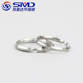 304 Keychain Auto Anschluss Ring Ring Schnalle Edelstahl Metall Super Mini Ring Tufting Extra Kleine DIY Kleine Kreis Zugriffs|Schlüsseletui für Auto|   -