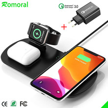 QI Wireless Charging 3 In 1 Wireless Charger for iPhone 11 Pro Max/XS/XR Plus Wireless Charger for Apple Watch 1 2 3 4 5 6