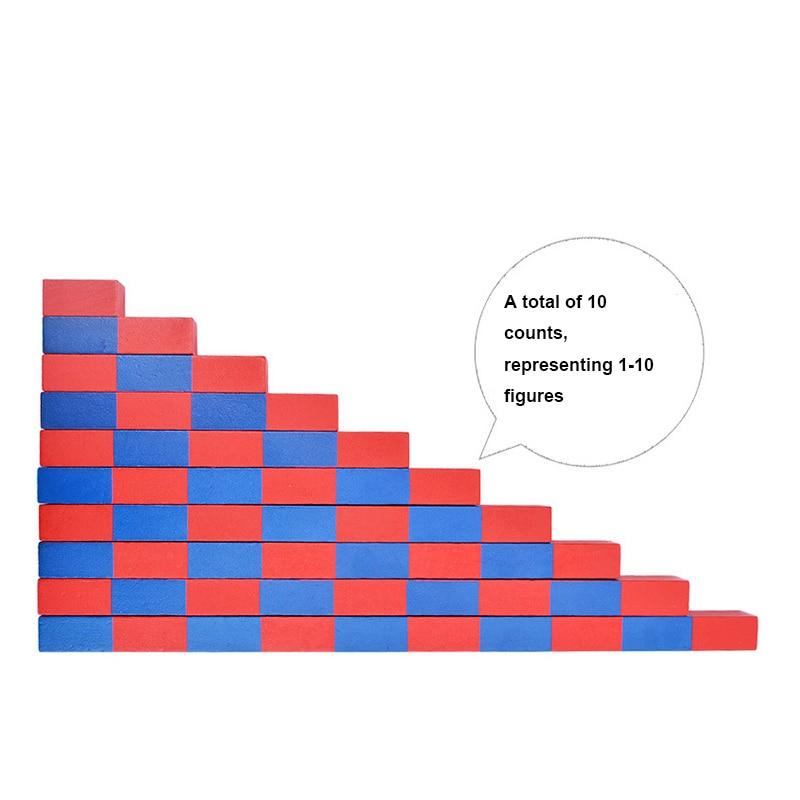 10Pcs Wooden Montessori Material Mini Family Set Numerical Number Rods Stick