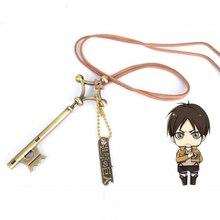 1pc New Cartoon Attack on Titan Eren Password Pendant Necklace Shingeki No Kyojin Anime Rope Chain Necklace Figure Toys Kid Gift
