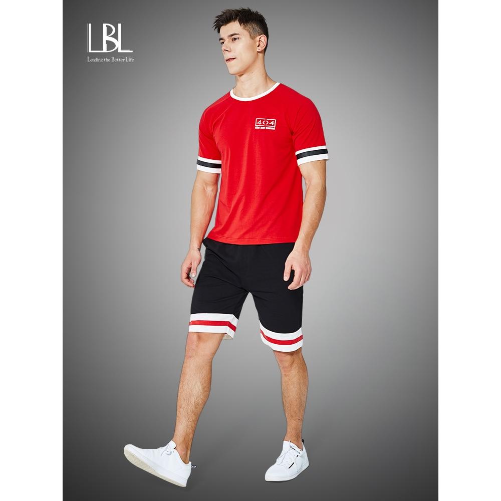 Summer Men Set New Short Sleeve T Shirts Two Piece Tops + Shorts Suit Sportswear Set Men's Clothing Shorts Sets Male Tracksuit
