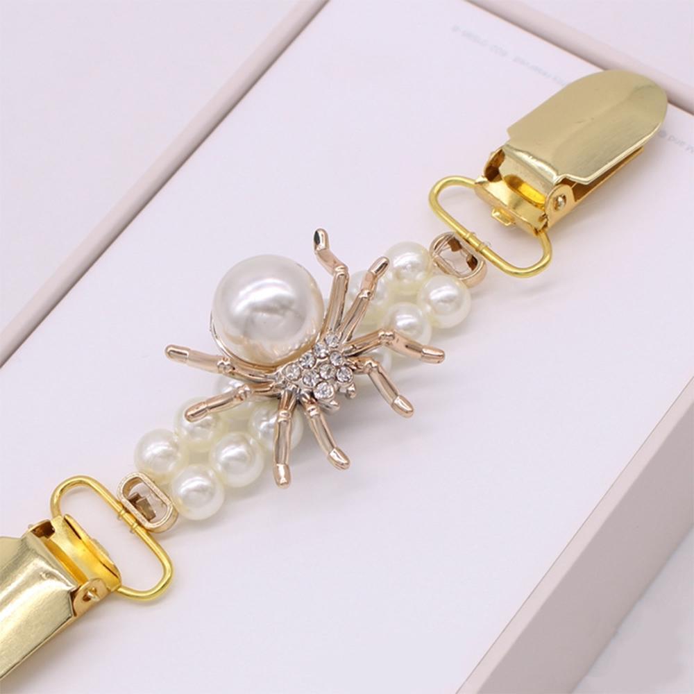 Новинка Высококачественный жемчужный зажим для одежды с золотыми пуговицами-утиными клюшками зажим для кардиганов модная брошь с зажимом ...