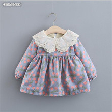 Baby Girl Dress Autumn Winter Baby Dress Girl Thick Warm Vel