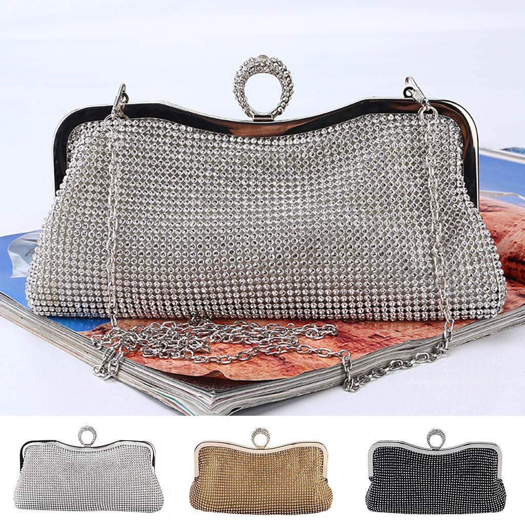 Xiniu Rhinestone Handbag Clutch Evening-Bag Women Bags Shoulder Diamond Party Designer title=