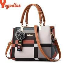 Yogodlns – sac à main de luxe pour femmes, nouveaux sacs à épaule à carreaux avec coutures, sacoche sauvage de marque de styliste, fourre-tout pour dames