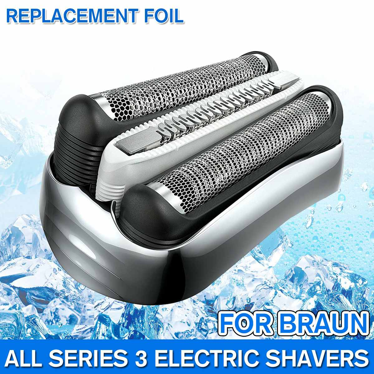 Replacement Shaver Foil Head For Braun 32B 32S 21B All Series 3 Shavers 5776 5415 5772 3040cc 3050cc 3080cc 300s 310s Blade