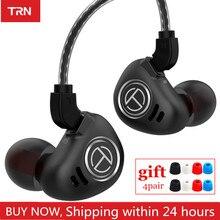 Trn v90 4ba + 1dd híbrido metal no ouvido fone de alta fidelidade iem dj monitor correndo esporte fone de ouvido earplug headplug ba5 v80 zsx c12