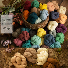 Newborn Cheeseloth Wrap Cotton Gauze Baby Swaddle Blnaket Newborn Stretch Knit Wrap Photography Props,#P2507