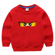 лучшая цена 2019 Summer Children's Clothes Baby Boys Girls T-shirt Ninja Ninjago Cartoon Cotton T-shirts Kids Tops Red Blue T Shirts 3-10y