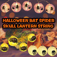 # Halloween Bat Spider Skull Lantern String Led Background Decoration Light Festival Cosplay Costume Supplies Party Mask mardi(China)