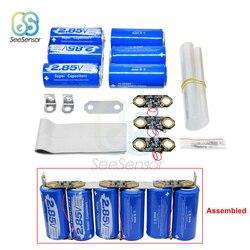 3 pces + 3 pces capacitor farad 2.85 v 3400f super capacitor ultracapacitor com placa de proteção 17 v 566f capacitor automotivo kit diy