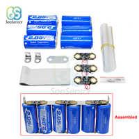 3Pcs+3Pcs Farad Capacitor 2.85V 3400F Super Capacitor Ultracapacitor with Protection Board 17V 566F Automotive Capacitor DIY Kit
