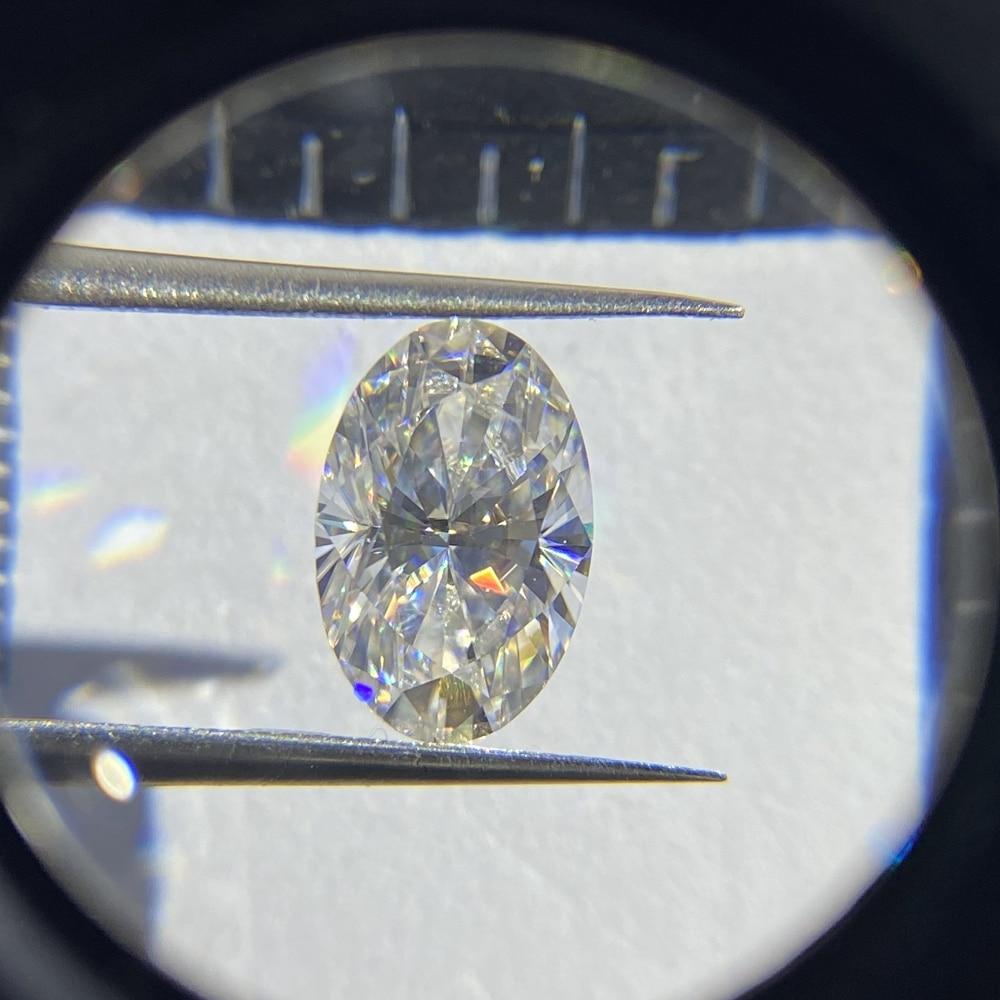 Lab Created 6*8MM 1 Carat Moissanite Diamond GRA Stone Oval Cut  VVS D Color White Loose Gemstone