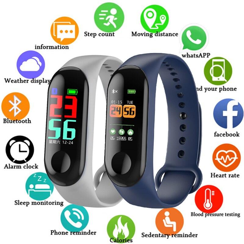 FXM Intelligent Sports Men Women Bracelet Heart Rate Sleep Monitoring Stepcounter Waterproof Watch Men And Women Bluetooth Link