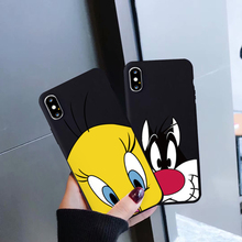 JAMULAR Cute Cartoon Duck Dog Phone Case For Huawei P30 P20 Pro Mate 20 Lite Honor 10 Black Silicone Soft Back Cover Fundas Capa