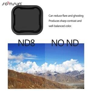 Image 2 - حافظة إطار حماية قياسية من SOONSUN مزودة بمرشح عدسات ND8 لكاميرا GoPro Hero 5/6/7 باللون الأسود ملحقات 7 Pro