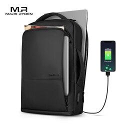 Mark Ryden Rugzak Grote Capaciteit Tiener Mannelijke Mochila Anti-dief Tas USB Opladen 15.6 inch Laptop Rugzak Waterdicht