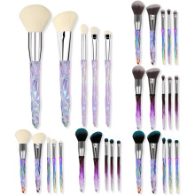 5 transparent handle diamond makeup brush set crystal makeup rinse set foundation eye shadow brush