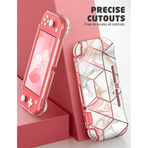 Image 2 - Mumba Case For Nintendo Switch Lite (2019 Release), [Thunderbolt Series] Protective Clear Marble Cover Case with TPU Grip