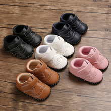 New Baby shoes Leather Moccasin infant footwears black shoes