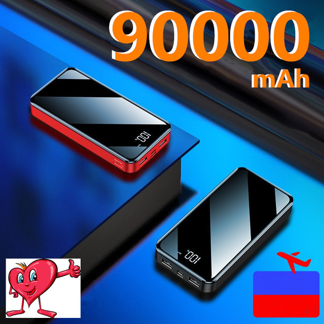 Phone Power Bank 90000mAh USB Type C 50000mAh Powerbank External Battery Charger Poverbank For iPhone 11 For Xiaomi 5