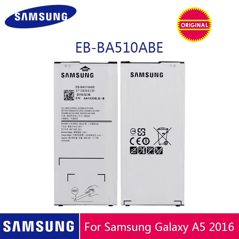 SAMSUNG Original Phone Battery EB-BA510ABE 2900mAh For Samsung Galaxy A5 2016 A510 A510F A5100 A510M A510FD A510K A510S