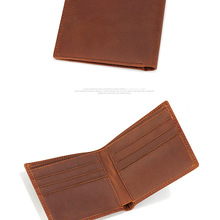Men genuine leather travel card wallet