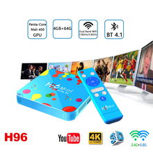 Mini H6 Android 9.0 Smart TV Box H96 Allwinner H6 Quad Core 4G 128G 6K 5.8 Wifi HD BT Google Player Youtube 4K Media Player цена