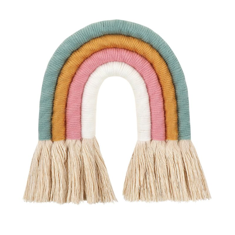 Nordic Woven Rainbow Wall Hanging For Nursery Dorm Room Decoration Party Supplie P31B