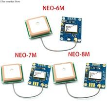 GY-NEO6MV2 GY-NEO7MV2 GY-NEO8MV2 NEO-6M NEO-7M NEO-8M módulo gps com controle de vôo eeprom mwc apm2.5 grande antena para arduino