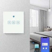 EWeLink الاتحاد الأوروبي واي فاي مفتاح الإضاءة الذكية RF433Mhz شاشة زجاجية لوحة اللمس التحكم الصوتي اللاسلكية الجدار التبديل العمل مع جوجل المنزل