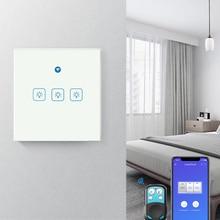 eWeLink EU Wifi Smart Light Switch RF433Mhz Glass Screen Touch Panel Voice Control Wireless Wall Switch work with Google home