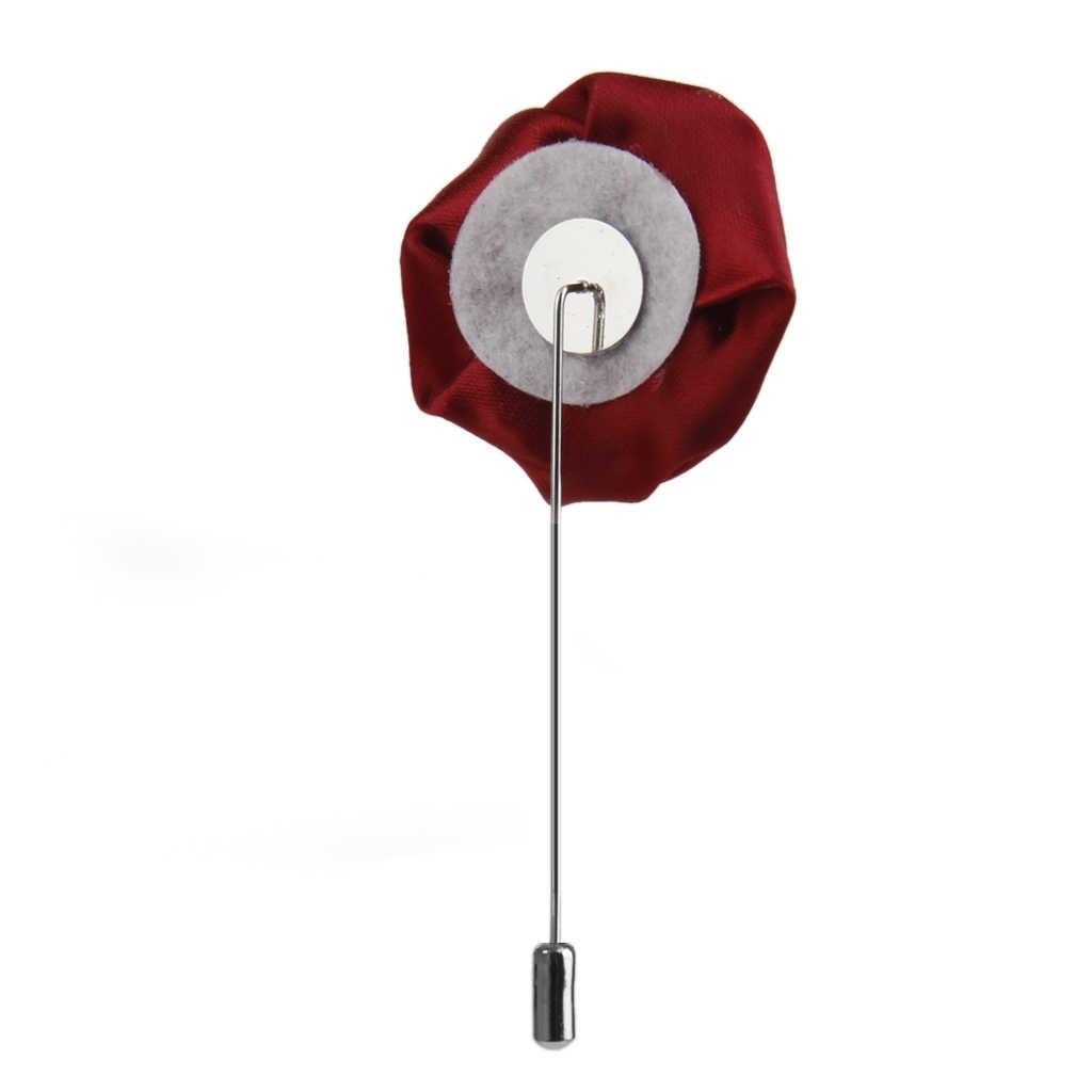 2 Pezzi Rosa Fiore Spilla Boutonniere Uomo Suit Risvolto Stick Pin