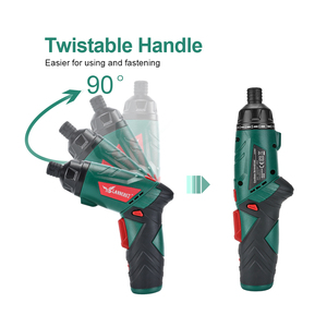 Image 4 - LANNERET 3.6V Cordless Electric Screwdriver Lithium Ion Household Multifunction Drill/Driver Power Gun Tools LED Light