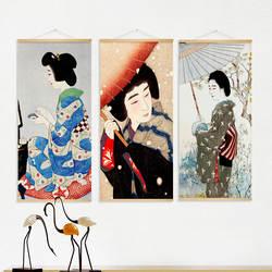 Напрямую от производителя продажа декоративной живописи в японском стиле вешается на стену ресторана картина маслом прикроватная Ткань