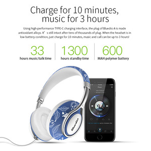 Image 4 - Bluedio A2 Bluetooth אוזניות אלחוטי אוזניות אופנתי אלחוטי אוזניות עבור טלפונים ומוסיקה