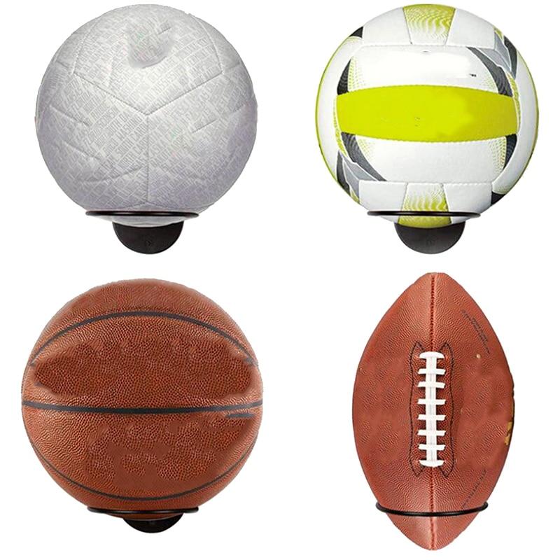 1PC espositori per palline a parete espositori per pallacanestro calcio calcio pallavolo palla per esercizi nero Organizer per la casa Rack