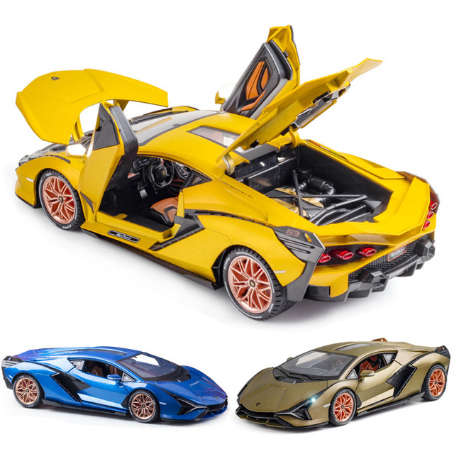 1:18 Lamborghinis Car Model Die Cast Alloy Boys Toys Cars Diecasts & Toy SIAN FKP37 Supercar Collectibles Kids Car Free Shipping 1