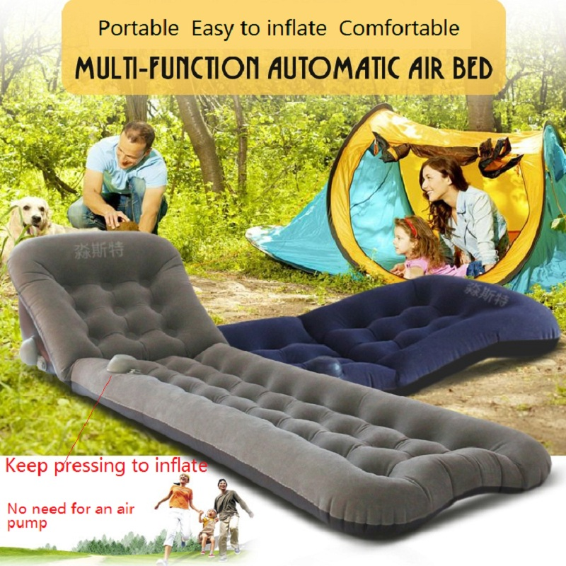 Portable Multi-function  Automitic Air Bed  Inflatable mattress Folding bed Outdoor and indoor inflatable folding mattress