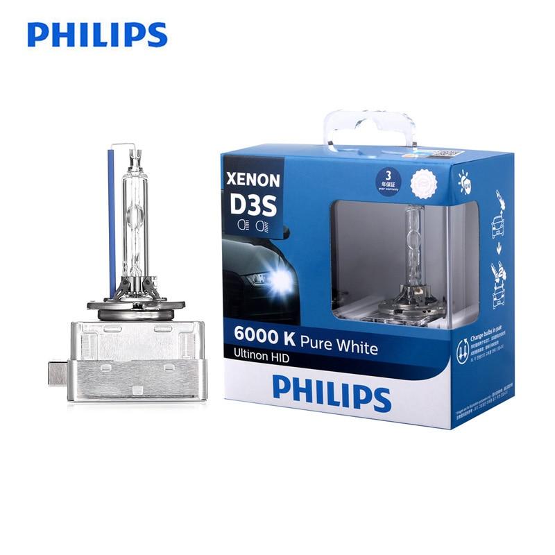 Philips D3S 42403WX 35W Ultinon HID 6000K Cool Blue Xenon White Light Car Upgrade Headlight Bulbs Flash Quick Start, Pair
