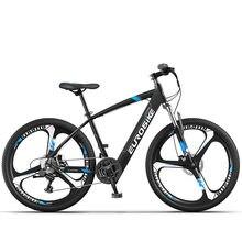 Литиевая батарея электрический мощность с переключением 21 скорости горный электрический велосипед двойной дисковый тормоз батарея мощнос...