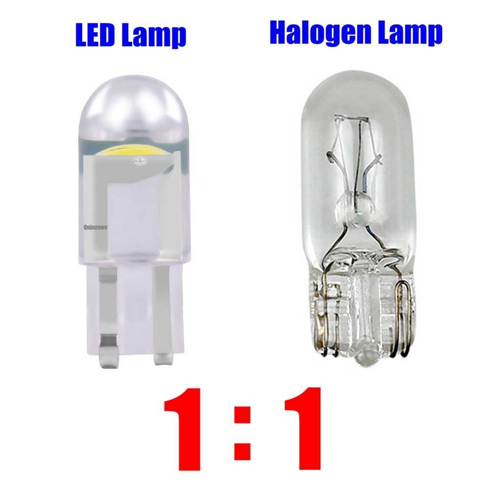 2 sztuk T10 W5W WY5W COB LED samochodów Wedge światła parkingowe Turn Side żarówki lampa Instrument Auto oświetlenie tablicy rejestracyjnej biały czerwony żółty niebieski