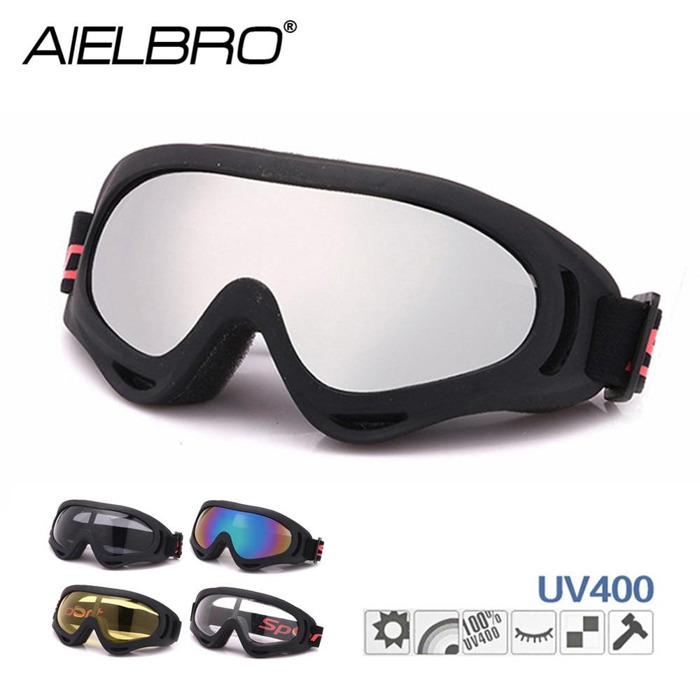 AIELBRO UV400 Ski Goggles Men Women Anti-fog Adult Winter Skiing Eyewear Snowboard Snow Goggles Anti-uv MTB Skate Glasses