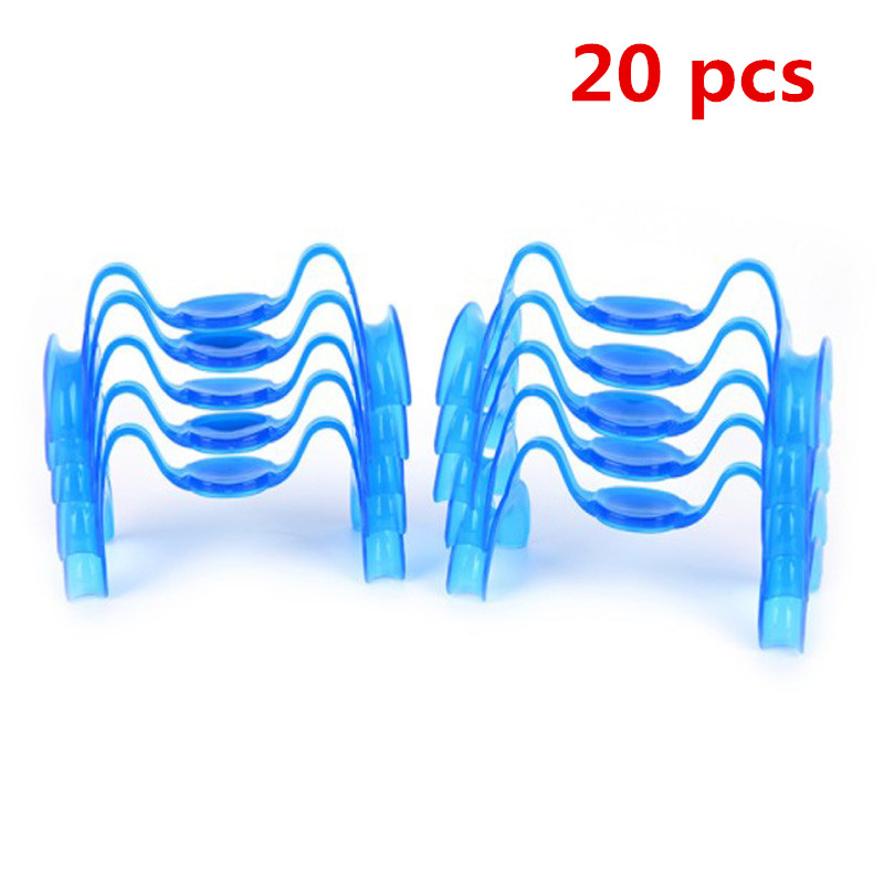 M Type Mouth Opener Cheek Retractor Expanders Teeth Whitening Dental Blue Lip Retractors