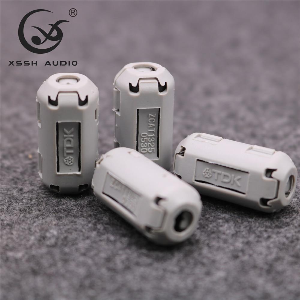 10pcs 5mm 7mm 9mm 11mm 13mm Magnetic Snap-on Emc Line Ferrite Core rf filter RFI EMI Noise Suppressor Cable Clip