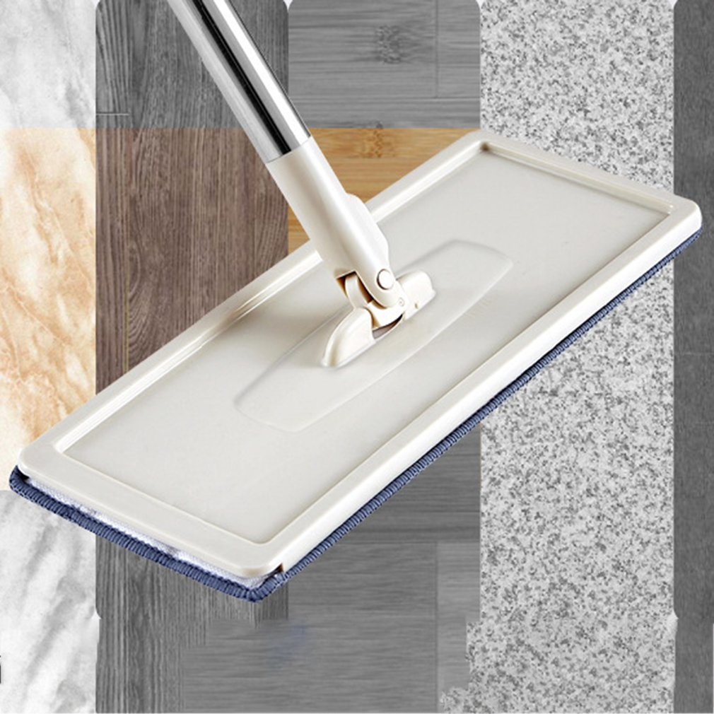 Floor-Mop Fiber with Reusable 360-Degree-Handle for Home-Kitchen-Laminate Wood Ceramic title=