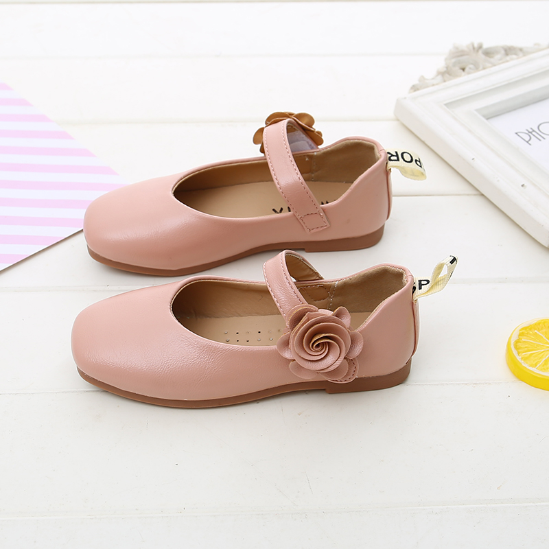 Soft PU Baby Leather Shoes For Children Girls Princess Shoes  Kids Flowers Flat  Boys Dress Shoes
