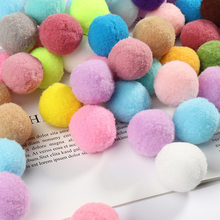 30mm Mix Colors White Red Big Pompom Cashmere Pompoms Fur Craft DIY Soft Pom Poms Wedding Decor Sewing Glue on Cloth Accessories(China)